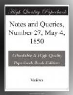 Notes and Queries, Number 27, May 4, 1850 by