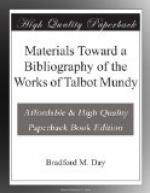Materials Toward a Bibliography of the Works of Talbot Mundy by