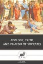 Apology, Crito, and Phaedo of Socrates by Plato