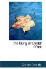 The Glory of English Prose by Stephen Coleridge