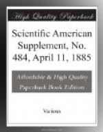 Scientific American Supplement, No. 484, April 11, 1885 by