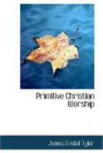 Primitive Christian Worship by