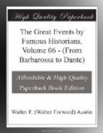 The Great Events by Famous Historians, Volume 06 by