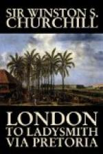 London to Ladysmith via Pretoria by Winston Churchill