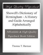 Showell's Dictionary of Birmingham by Thomas Harman