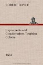 Experiments and Considerations Touching Colours (1664) by Robert Boyle