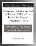 Discourse on Criticism and of Poetry (1707) by