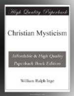 Christian Mysticism by William Ralph Inge