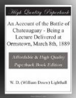 An Account of the Battle of Chateauguay by