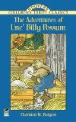 The Adventures of Unc' Billy Possum by Thornton Burgess