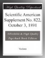 Scientific American Supplement No. 822, October 3, 1891 by