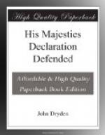 His Majesties Declaration Defended by John Dryden