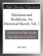 Hinduism and Buddhism, An Historical Sketch, Vol. 1 by