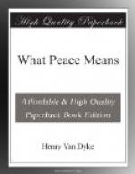 What Peace Means by Henry van Dyke