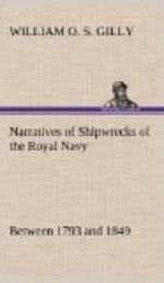 Narratives of Shipwrecks of the Royal Navy; between 1793 and 1849 by