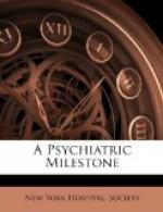 A Psychiatric Milestone by