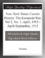 New York Times Current History: The European War, Vol 2, No. 1, April, 1915 by