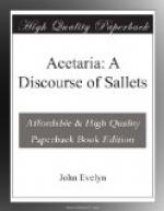 Acetaria: A Discourse of Sallets by John Evelyn