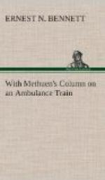 With Methuen's Column on an Ambulance Train by