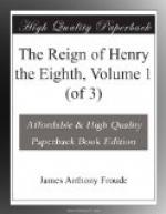 The Reign of Henry the Eighth, Volume 1 (of 3) by James Anthony Froude