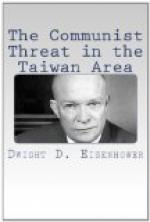The Communist Threat in the Taiwan Area by Dwight D. Eisenhower