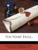Ten Years' Exile by Anne Louise Germaine de Staël