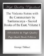The Vedanta-Sutras with the Commentary by Sankaracarya by