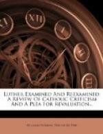 Luther Examined and Reexamined by