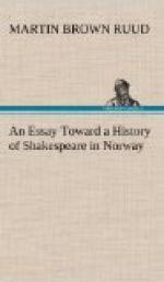 An Essay Toward a History of Shakespeare in Norway by