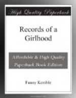Records of a Girlhood by Fanny Kemble