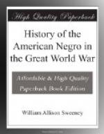 History of the American Negro in the Great World War by