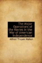 The Major Operations of the Navies in the War of American Independence by Alfred Thayer Mahan