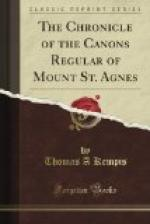 The Chronicle of the Canons Regular of Mount St. Agnes by Thomas à Kempis