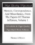 Memoir, Correspondence, And Miscellanies, From The Papers Of Thomas Jefferson, Volume 1 by Thomas Jefferson