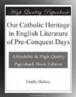 Our Catholic Heritage in English Literature of Pre-Conquest Days by