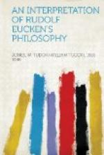 An Interpretation of Rudolf Eucken's Philosophy by