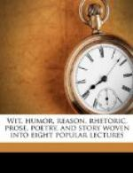 Wit, Humor, Reason, Rhetoric, Prose, Poetry and Story Woven into Eight Popular Lectures by
