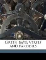 Green Bays.  Verses and Parodies by Arthur Quiller-Couch