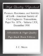 Pressure, Resistance, and Stability of Earth by