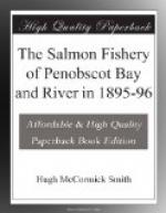 The Salmon Fishery of Penobscot Bay and River in 1895-96 by Hugh McCormick Smith