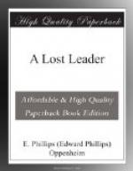 A Lost Leader by E. Phillips Oppenheim