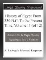 History of Egypt From 330 B.C. To the Present Time, Volume 11 (of 12) by