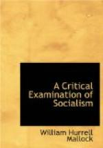 A Critical Examination of Socialism by William Hurrell Mallock