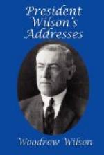 President Wilson's Addresses by Woodrow Wilson