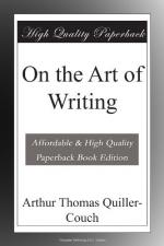 On the Art of Writing by Arthur Quiller-Couch