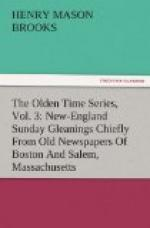 The Olden Time Series, Vol. 3: New-England Sunday by