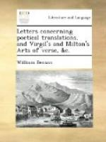 Letters Concerning Poetical Translations by