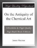 On the Antiquity of the Chemical Art by