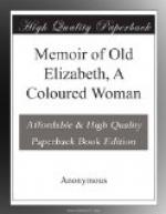 Memoir of Old Elizabeth, A Coloured Woman by