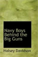 Navy Boys Behind the Big Guns by